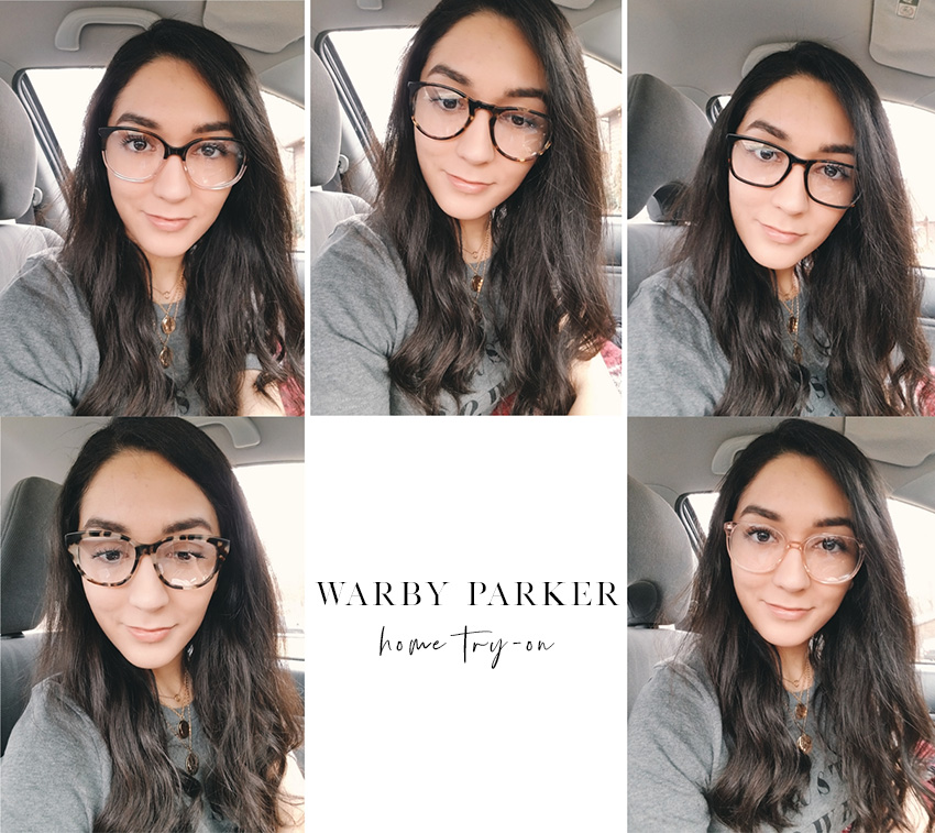 warby parker home try on review haskell, eugene, welty, olive, laurel