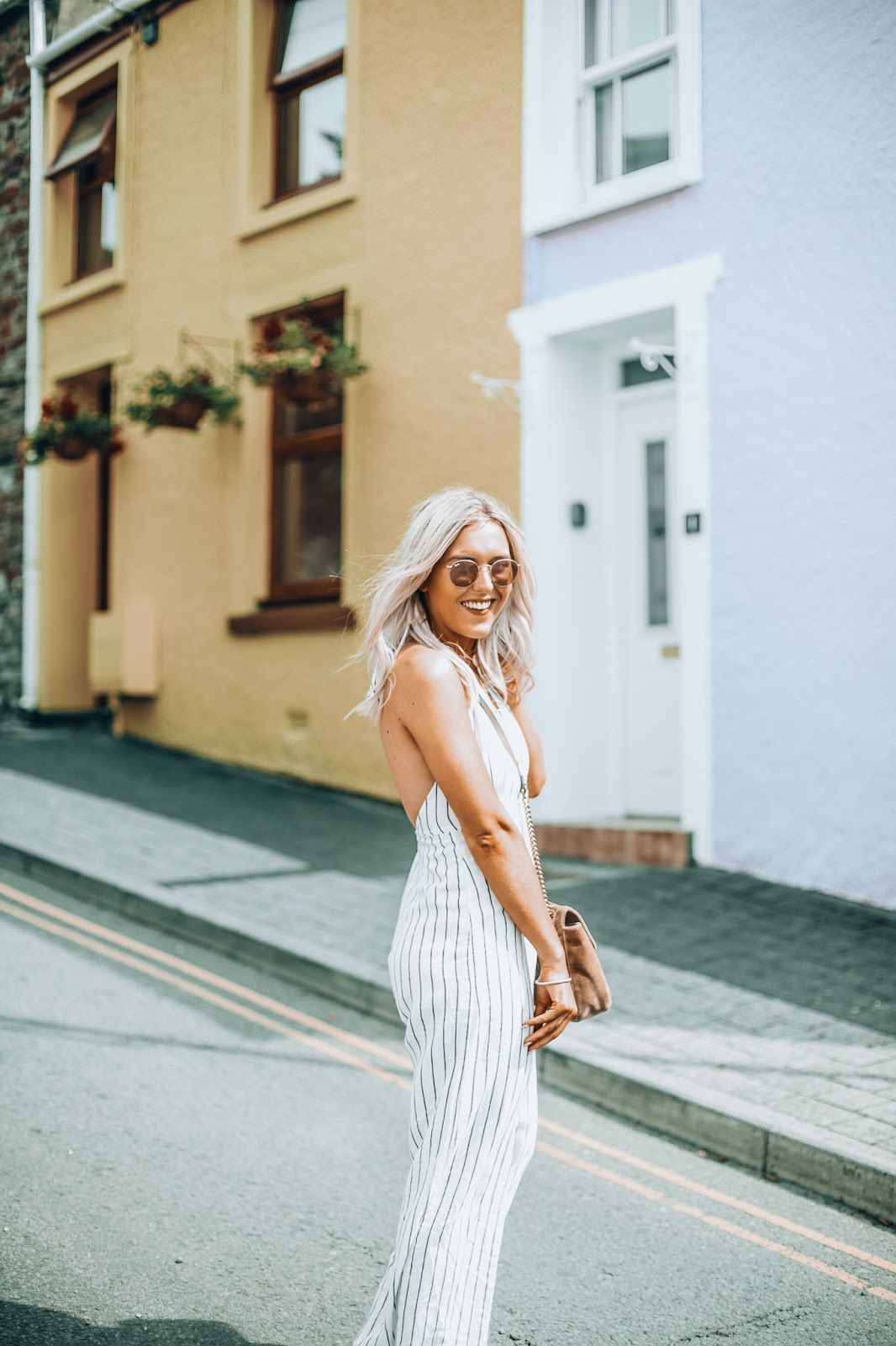 Stradivarius stripe jumpsuit
