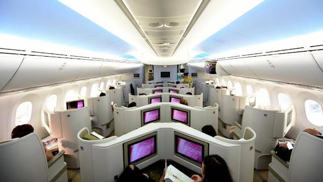 Ghế thương gia trên máy bay của Vietnam Airlines