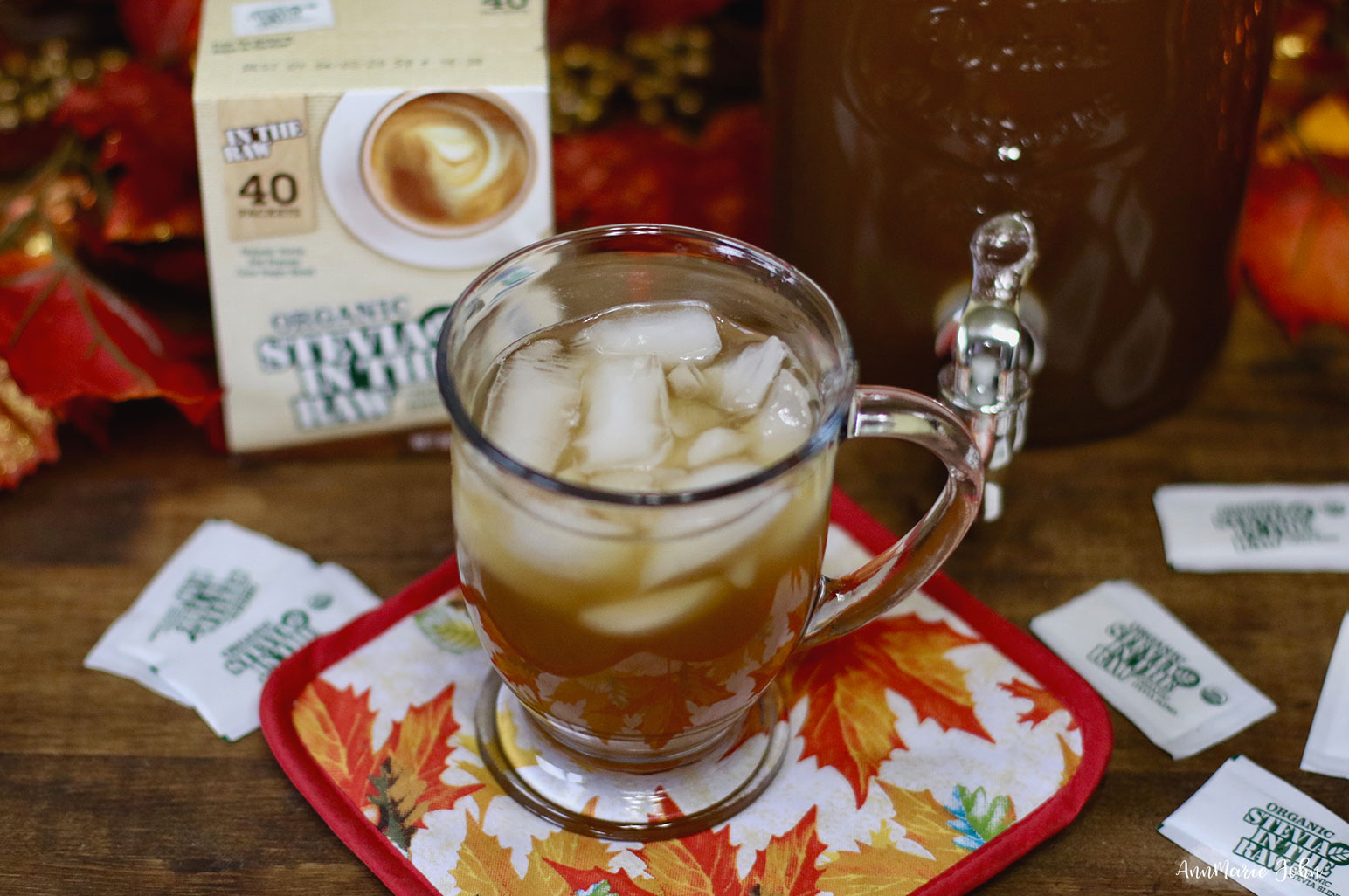Apple Cider Sweet Tea ~ #OrganicStevia #InTheRaw