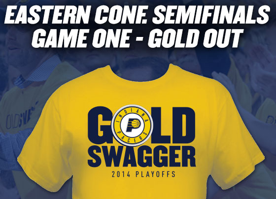 "Pacers Playoffs 2014 Shirt ""Gold Swagger"""
