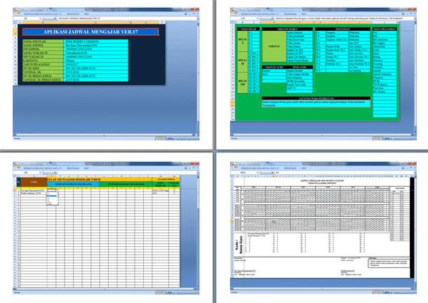 Aplikasi Jadwal Mengajar 2017 Dilengkapi SK KBM Otomatis Format Microsoft Excel
