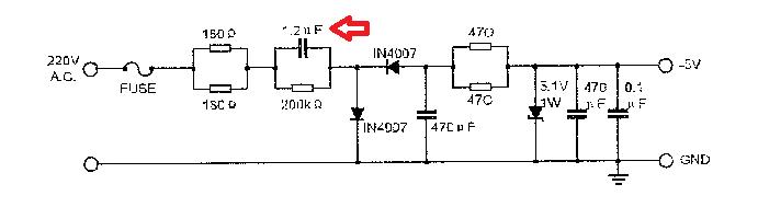 skema rangkaian power supply kipas angin remot
