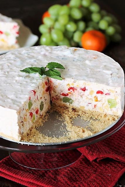 Fruit Salad Cheesecake Made in a Springform Pan image