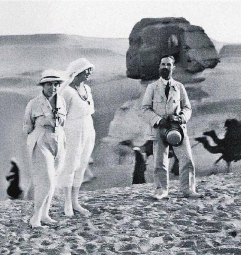 Художник Иван Билибин с Людмилой Чириковой в Египте