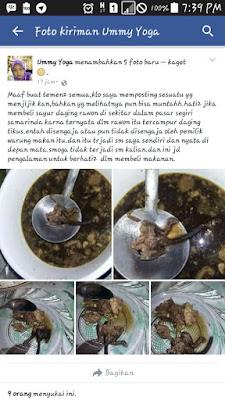 Hari-hati, Sayur Rawon yang terbuat dari daging Tikus