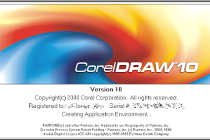 Free Download Software Corel Draw Version 10 for Computer or Laptop