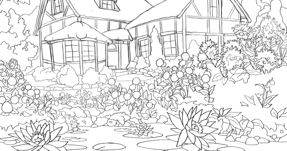 365 Days Of Coloring Cottage Pond