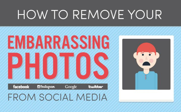 How To Remove Your Embarrassing Photos From Facebook, Twitter, Google and Instagram - #SocialMedia #infographic