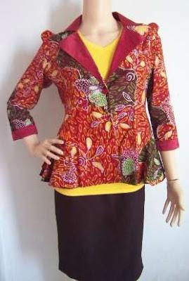 dress batik kerja wanita