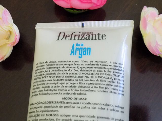 Mousse Defrizante Óleo de Argan Soft Hair