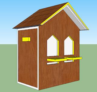 Glodok Lovebird Bentuk Rumah