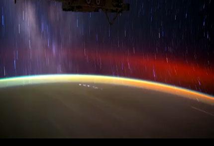 Tierra desde espacio