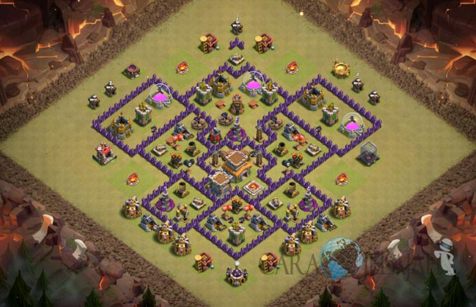 Base War TH 8 di Clash Of Clans Terbaru 2017 Tipe 25