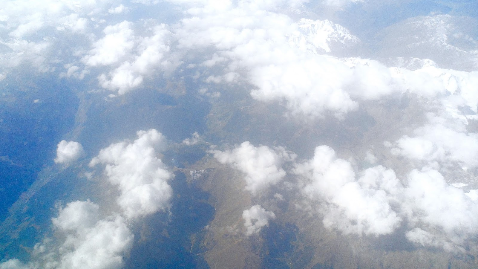 A view from a plane during a flight to Rome
