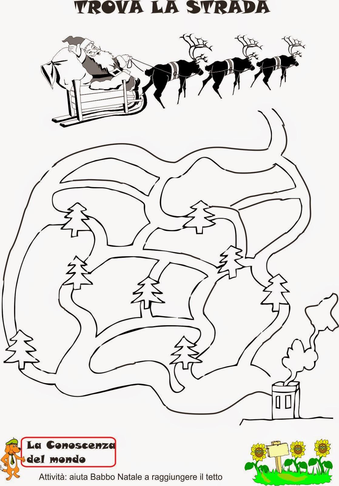 A scuola con poldo il paese di babbo natale for Schede didattiche scuola dell infanzia da stampare natale