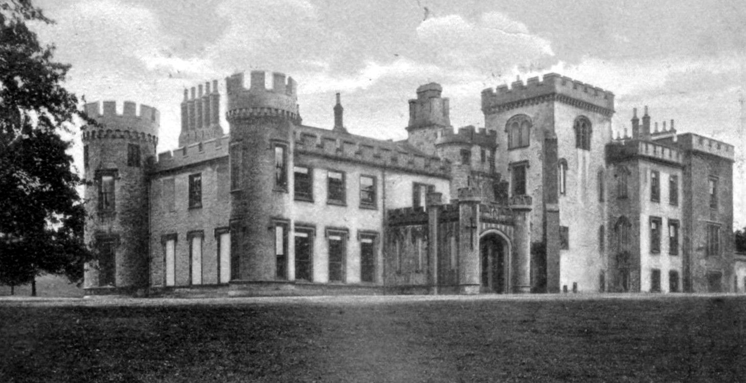 d271fbc1 Old photograph of Johnstone Castle in Johnstone located three miles West of  Paisley, Scotland. This Scottish castle belonged to the Houstouns of  Milliken, ...