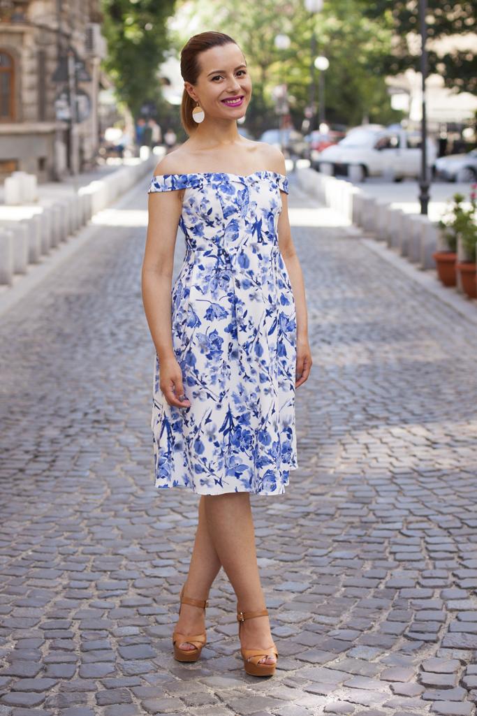rochie delicata cu imprimeu