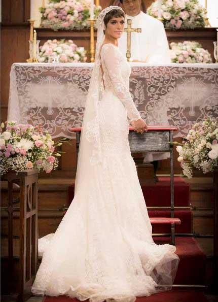 Leticia de noiva casamento A lei do amor