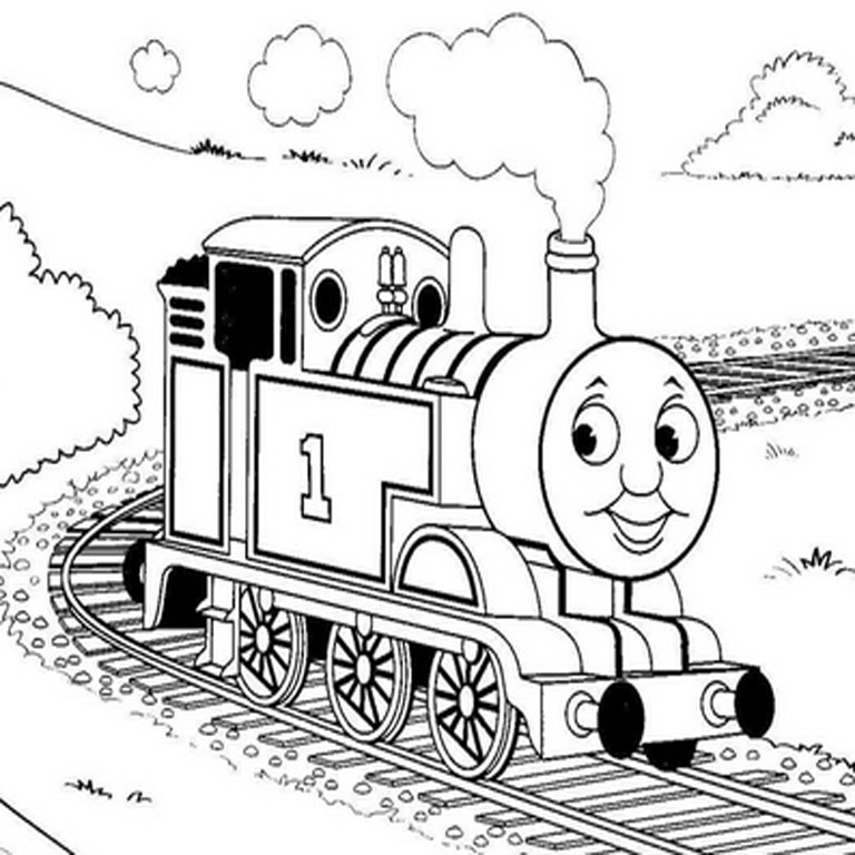 Gambar Kereta Api Thomas Hitam Putih Gambar Kereta Api Hitam Putih Untuk Diwarnai