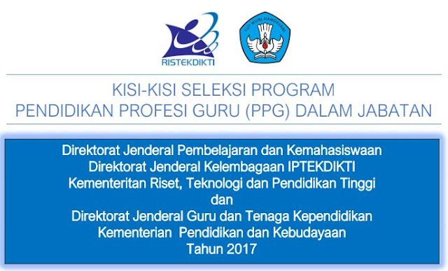 Kisi-Kisi Seleksi Program PPG Dalam Jabatan-http://www.librarypendidikan.com