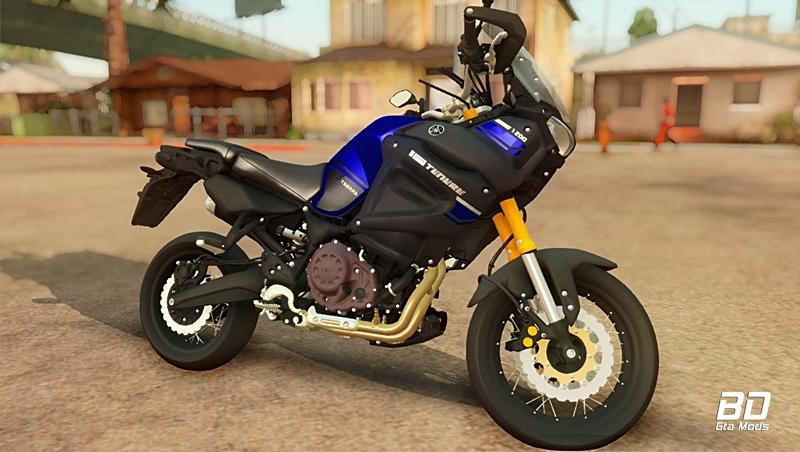 Download mod moto Yamaha Ténéré 1200 para GTA San Andreas