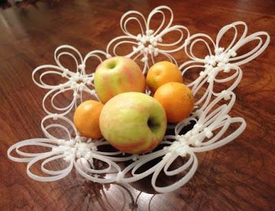 cara membuat keranjang buah dari kabel ties