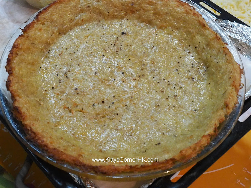 Broccoli and Cheese Pie in Crispy Potato Crust  西蘭花芝士香脆薯底批 自家烘焙食譜 home baking recipes