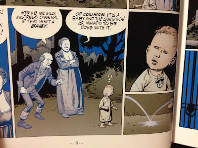 kevin nowlan the graveyard book illustration Bod and parents