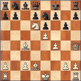 Partida de ajedrez Antoni Puget - J. Marimón, 1959, posición después de 15.Dh4