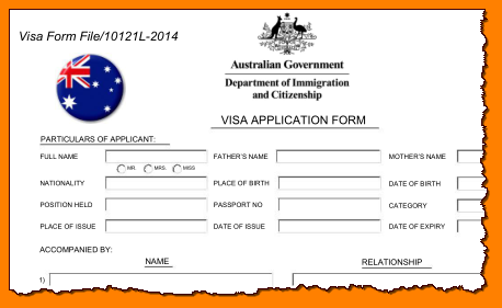 australia-visa-application-forms-2form Online Application Form For Australian Pport on
