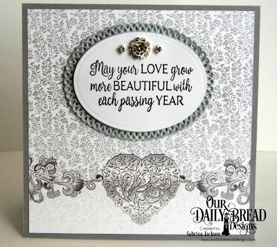 Our Daily Bread Designs Stamp Set: Happily Ever After, Custom Dies: Ovals, Layered Lacey Ovals, Paper Collection: Wedding Wishes