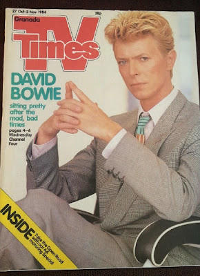 David Bowie on the cover of TV Times in October 1984