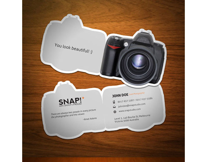 cartao de visita criativo fotografos 15 - Fotógrafos 10 cartões de visita irresistíveis