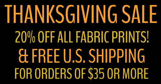 Thanksgiving Sale at Organic Fabric Company!