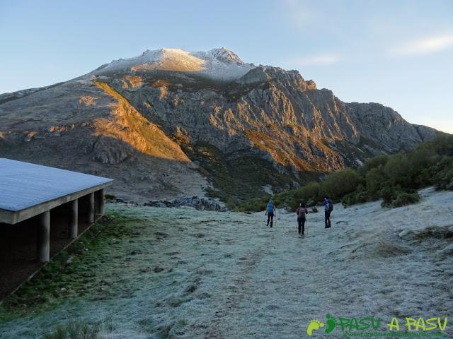 Bajando al Valle de Langreo en Isoba