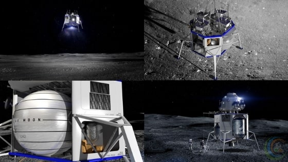 Blue Origin launched Biggest Lunar Lander Blue Moon Yesterday