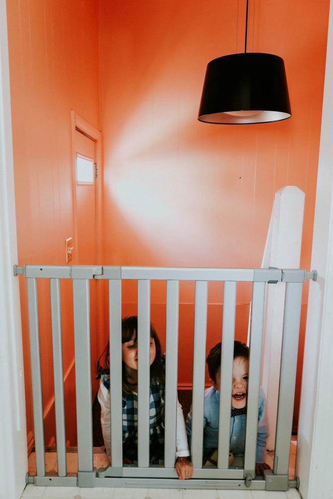 children safety with baby gate