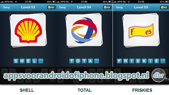 Logo Quiz Nederlands cheats en antwoorden level 53 54 en 56