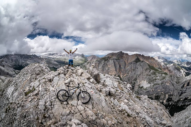 MTB - St. Vigil Monte Vallon Bianco 2684 m.ü.A  Mountainbike Tour San Vigilio