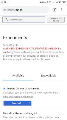 Cara Menggunakan Fitur Dark Mode Pada Chrome Android Terbaru