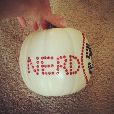 pumpkin, crafts, halloween, chuck, nerd herd,