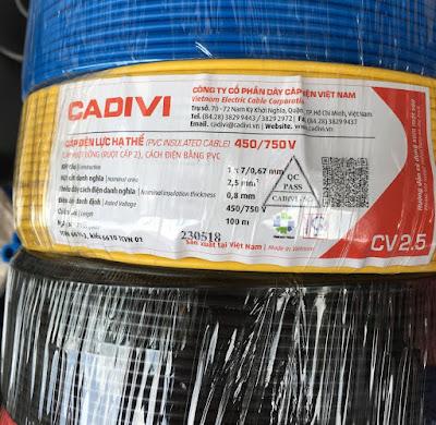 Địa chỉ mua dây điện Cadivi chiết khấu cao 2019 tại Tphcm