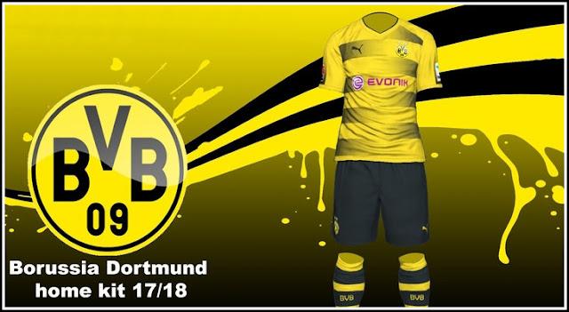 Puma Borussia Dortmund 17-18 Home Replica Shirt - Cyber Yellow Puma Black