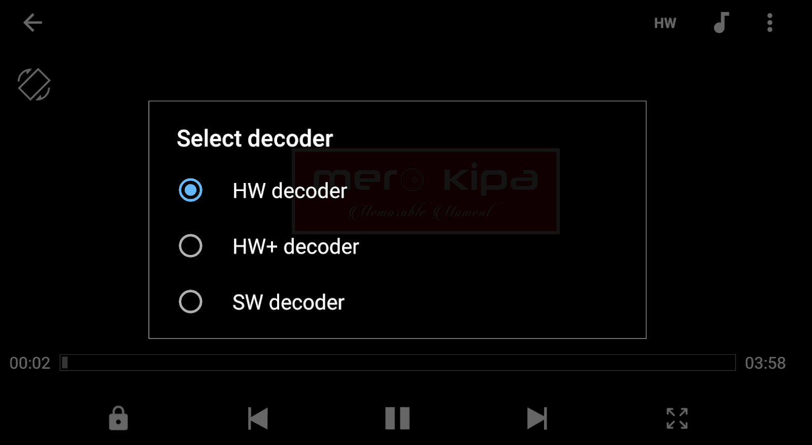 How to Rotate a Video Screen Orientation while Playing in MX Player