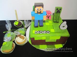Um aniversário Minecraft