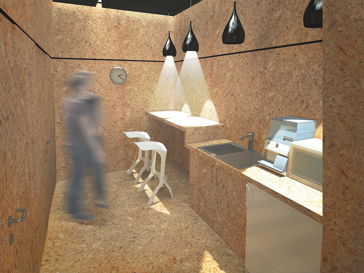 wizualizacja wnętrza w drewnie
