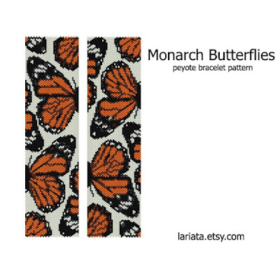 peyote pattern monarch butterflies