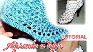 Zapatos Elegantes a Crochet / Tutorial