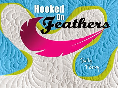 Hooked On Feathers Free Motion Machine Quilting Book by Sally Terry